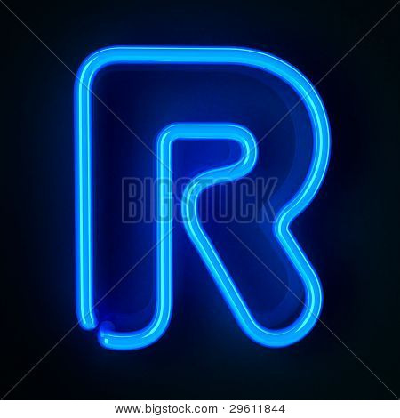 Neon Sign Letter R