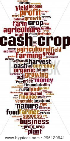 Cash Crop Word Cloud Concept. Collage Made Of Words About Cash Crop. Vector Illustration