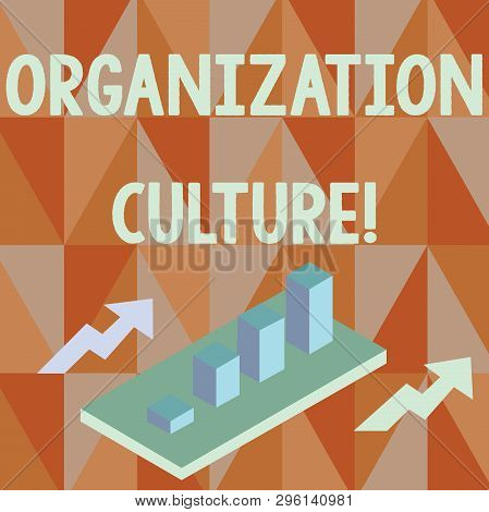 Word Writing Text Organization Culture. Business Concept For Social And Psychological Environment Of