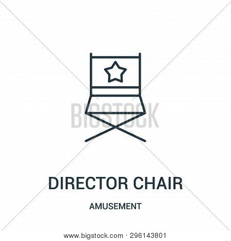 Director Chair Icon Isolated On White Background From Amusement Collection. Director Chair Icon Tren