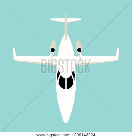 Jetliner ,vector Illustration , Flat Style ,front View