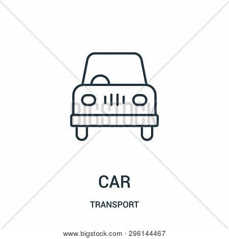 Car Icon Isolated On White Background From Transport Collection. Car Icon Trendy And Modern Car Symb