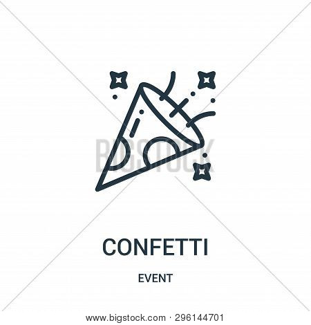 Confetti Icon Isolated On White Background From Event Collection. Confetti Icon Trendy And Modern Co
