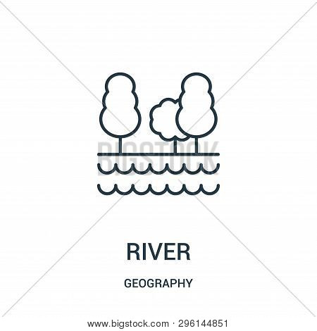 River Icon Isolated On White Background From Geography Collection. River Icon Trendy And Modern Rive