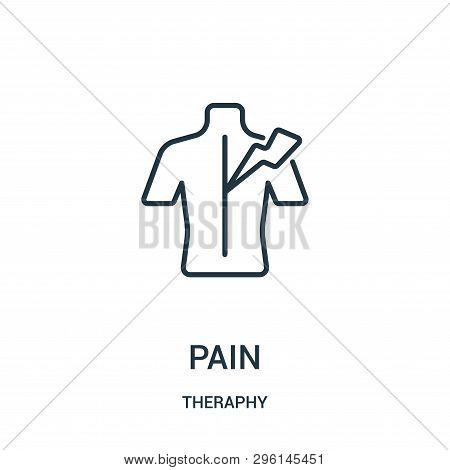 Pain Icon Isolated On White Background From Theraphy Collection. Pain Icon Trendy And Modern Pain Sy