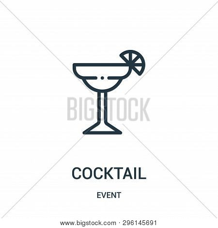 Cocktail Icon Isolated On White Background From Event Collection. Cocktail Icon Trendy And Modern Co