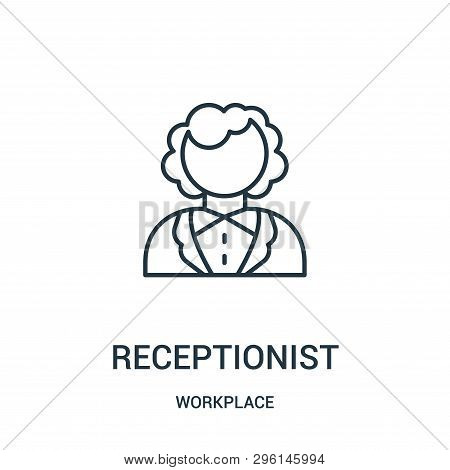 Receptionist Icon Isolated On White Background From Workplace Collection. Receptionist Icon Trendy A