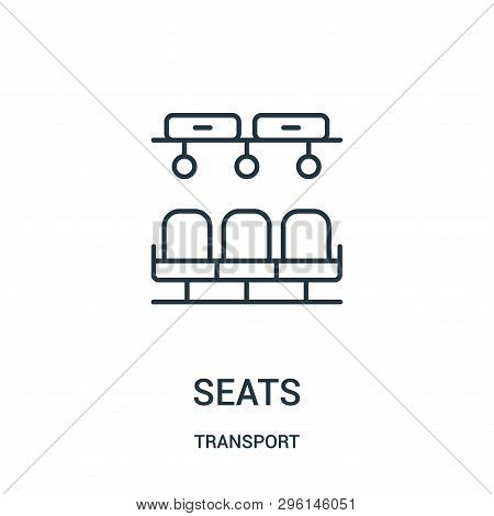 Seats Icon Isolated On White Background From Transport Collection. Seats Icon Trendy And Modern Seat