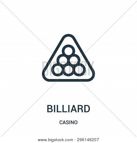 Billiard Icon Isolated On White Background From Casino Collection. Billiard Icon Trendy And Modern B