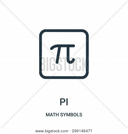 Pi Icon Isolated On White Background From Math Symbols Collection. Pi Icon Trendy And Modern Pi Symb
