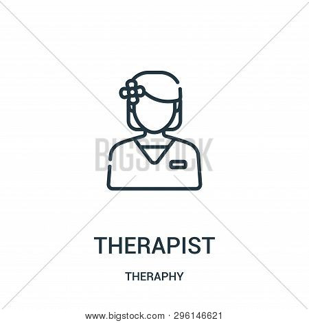 therapist icon isolated on white background from theraphy collection. therapist icon trendy and modern therapist symbol for logo, web, app, UI. therapist icon simple sign. therapist icon flat vector illustration for graphic and web design. poster