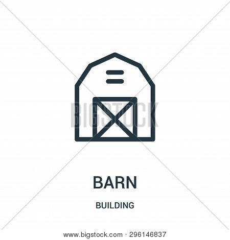 Barn Icon Isolated On White Background From Building Collection. Barn Icon Trendy And Modern Barn Sy