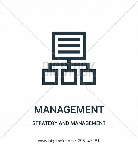 Management Icon Isolated On White Background From Strategy And Management Collection. Management Ico