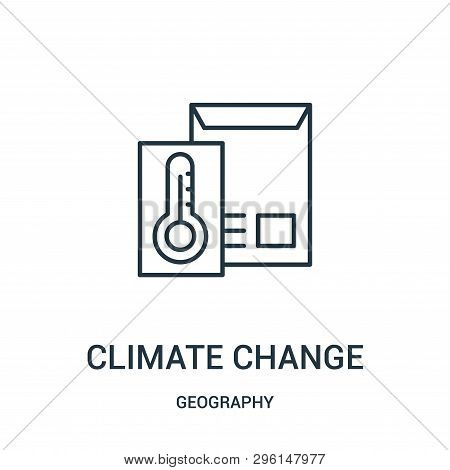 Climate Change Icon Isolated On White Background From Geography Collection. Climate Change Icon Tren