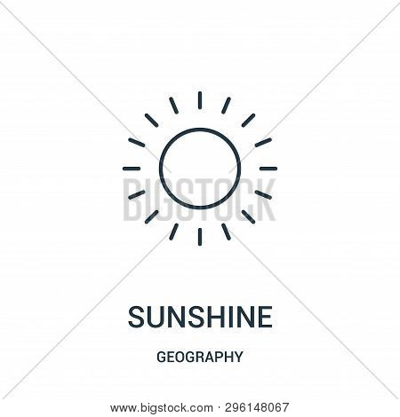 Sunshine Icon Isolated On White Background From Geography Collection. Sunshine Icon Trendy And Moder