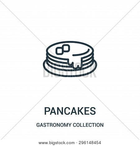 Pancakes Icon Isolated On White Background From Gastronomy Collection. Pancakes Icon Trendy And Mode