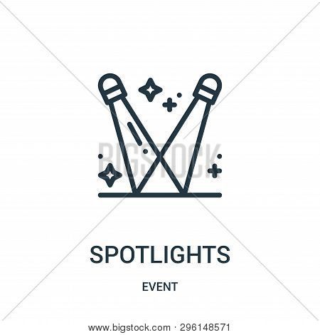 Spotlights Icon Isolated On White Background From Event Collection. Spotlights Icon Trendy And Moder
