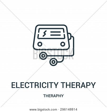 electricity therapy icon isolated on white background from theraphy collection. electricity therapy icon trendy and modern electricity therapy symbol for logo, web, app, UI. electricity therapy icon simple sign. electricity therapy icon flat vector illust poster