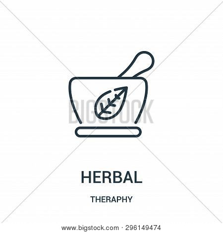 Herbal Icon Isolated On White Background From Theraphy Collection. Herbal Icon Trendy And Modern Her