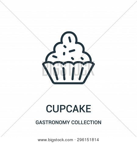 Cupcake Icon Isolated On White Background From Gastronomy Collection. Cupcake Icon Trendy And Modern