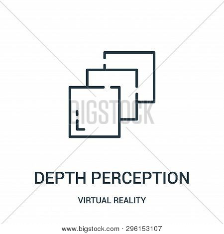 Depth Perception Icon Isolated On White Background From Virtual Reality Collection. Depth Perception