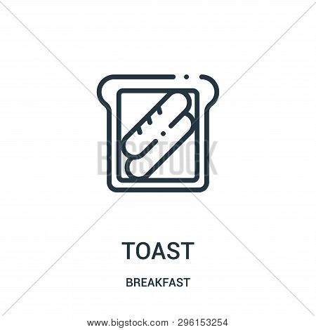 Toast Icon Isolated On White Background From Breakfast Collection. Toast Icon Trendy And Modern Toas