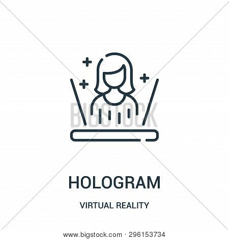 Hologram Icon Isolated On White Background From Virtual Reality Collection. Hologram Icon Trendy And