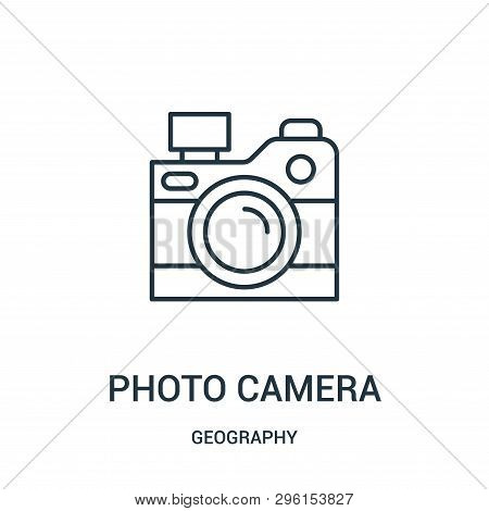 Photo Camera Icon Isolated On White Background From Geography Collection. Photo Camera Icon Trendy A