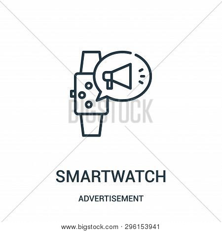 Smartwatch Icon Isolated On White Background From Advertisement Collection. Smartwatch Icon Trendy A