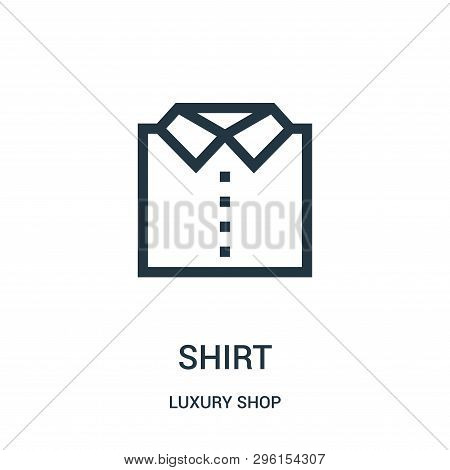 Shirt Icon Isolated On White Background From Luxury Shop Collection. Shirt Icon Trendy And Modern Sh