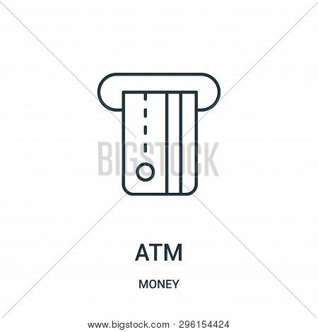 Atm Icon Isolated On White Background From Money Collection. Atm Icon Trendy And Modern Atm Symbol F
