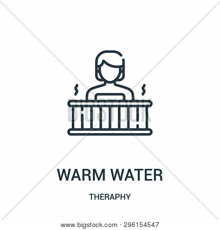 Warm Water Icon Isolated On White Background From Theraphy Collection. Warm Water Icon Trendy And Mo