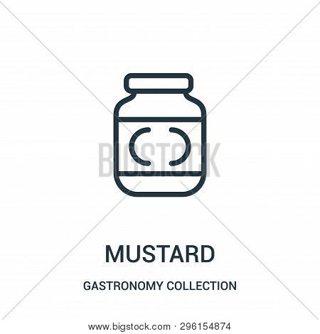 Mustard Icon Isolated On White Background From Gastronomy Collection. Mustard Icon Trendy And Modern