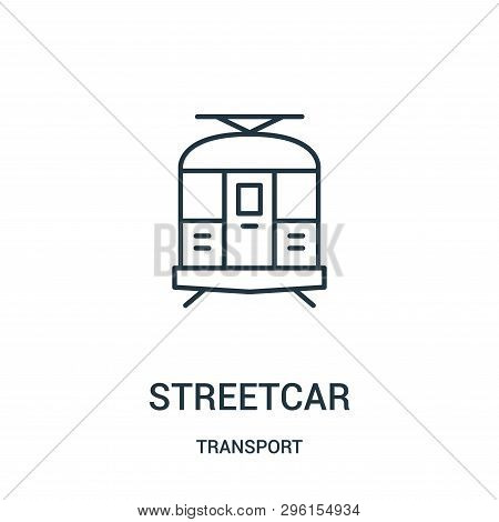 Streetcar Icon Isolated On White Background From Transport Collection. Streetcar Icon Trendy And Mod