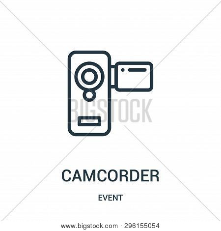 Camcorder Icon Isolated On White Background From Event Collection. Camcorder Icon Trendy And Modern