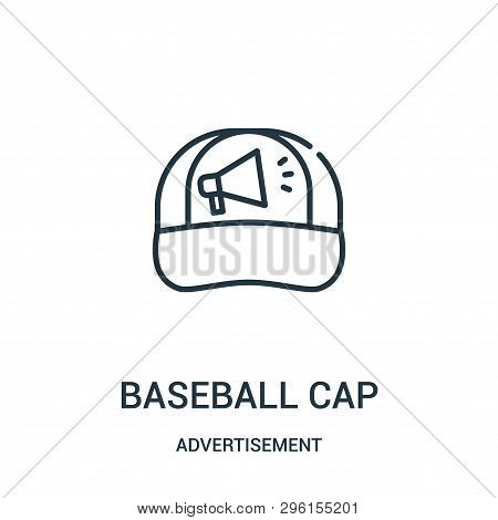 Baseball Cap Icon Isolated On White Background From Advertisement Collection. Baseball Cap Icon Tren