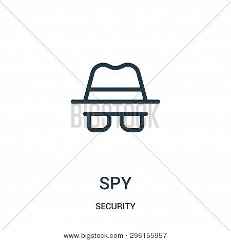 Spy Icon Isolated On White Background From Security Collection. Spy Icon Trendy And Modern Spy Symbo
