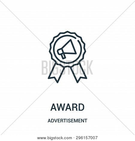 Award Icon Isolated On White Background From Advertisement Collection. Award Icon Trendy And Modern