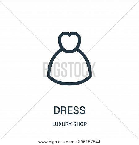 Dress Icon Isolated On White Background From Luxury Shop Collection. Dress Icon Trendy And Modern Dr