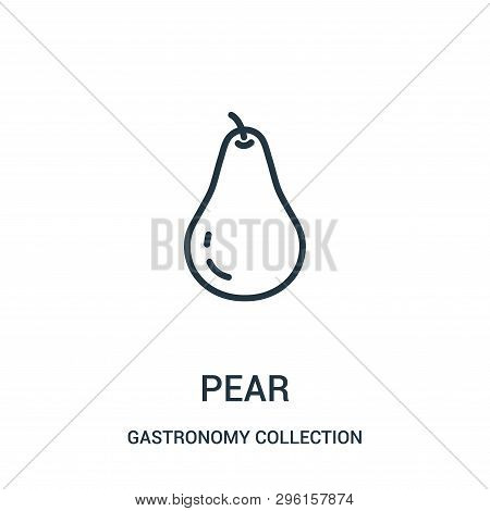 Pear Icon Isolated On White Background From Gastronomy Collection. Pear Icon Trendy And Modern Pear