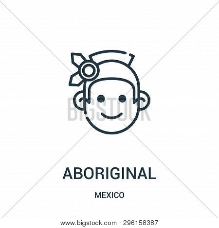 Aboriginal Icon Isolated On White Background From Mexico Collection. Aboriginal Icon Trendy And Mode