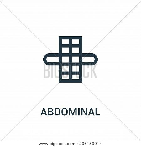 Abdominal Icon Isolated On White Background From Gym Collection. Abdominal Icon Trendy And Modern Ab