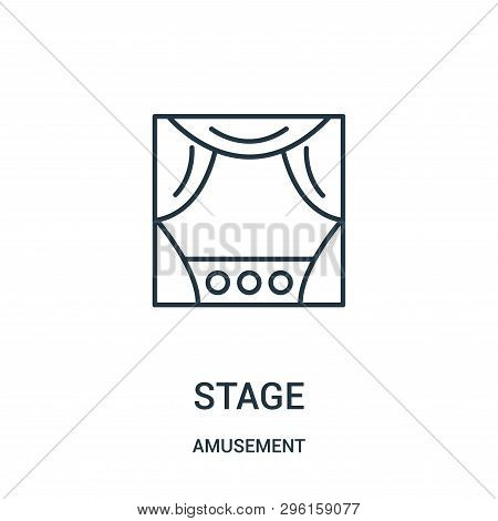 Stage Icon Isolated On White Background From Amusement Collection. Stage Icon Trendy And Modern Stag