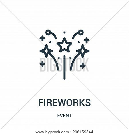 Fireworks Icon Isolated On White Background From Event Collection. Fireworks Icon Trendy And Modern