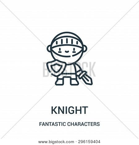 Knight Icon Isolated On White Background From Fantastic Characters Collection. Knight Icon Trendy An