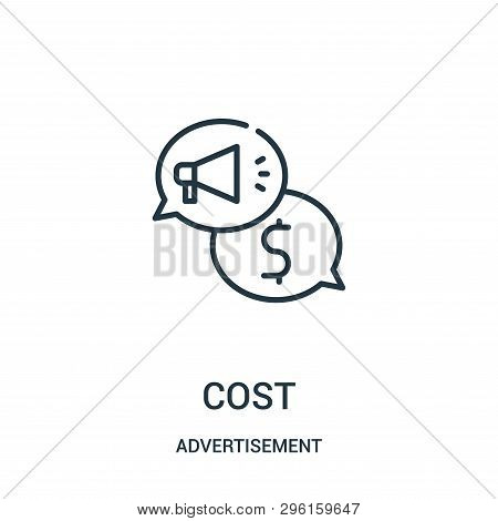 Cost Icon Isolated On White Background From Advertisement Collection. Cost Icon Trendy And Modern Co