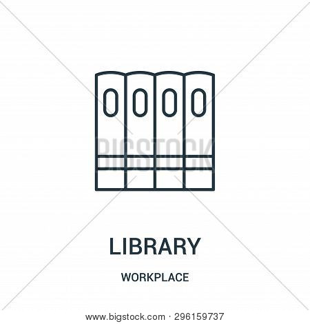 Library Icon Isolated On White Background From Workplace Collection. Library Icon Trendy And Modern