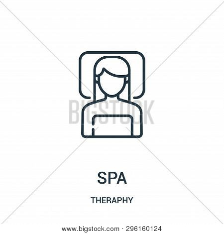 Spa Icon Isolated On White Background From Theraphy Collection. Spa Icon Trendy And Modern Spa Symbo