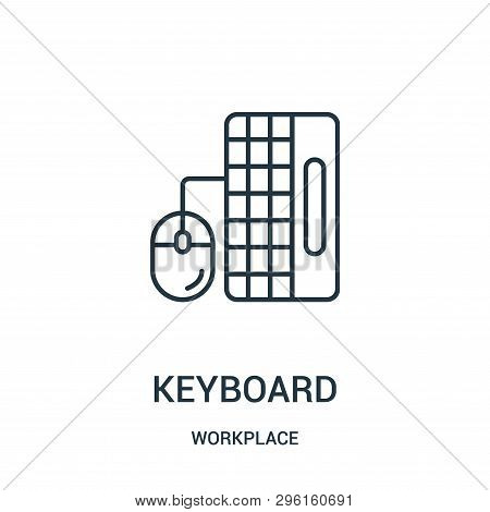 Keyboard Icon Isolated On White Background From Workplace Collection. Keyboard Icon Trendy And Moder
