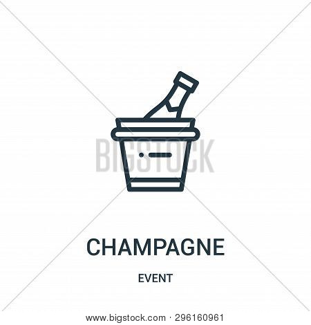 Champagne Icon Isolated On White Background From Event Collection. Champagne Icon Trendy And Modern